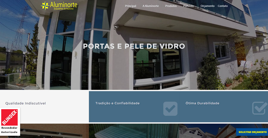 Website Aluminorte 2016